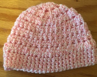 Textured Baby Girl Beanie