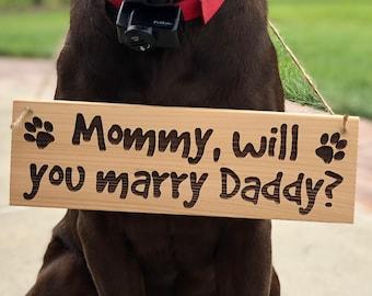 Will You Marry My Daddy Dog Bandana Wedding Proposal Pet Marriage
