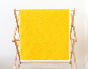 Banana Yellow Fruity Baby Quilt