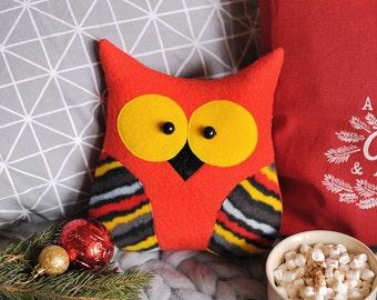 Plush owl, stuffed animal, gift for women, kids