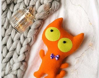 Cat plush, cute stuffed animal small, cuddly toy