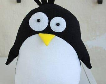 Plush toy penguin, funny stuffed animal, Nursery décor