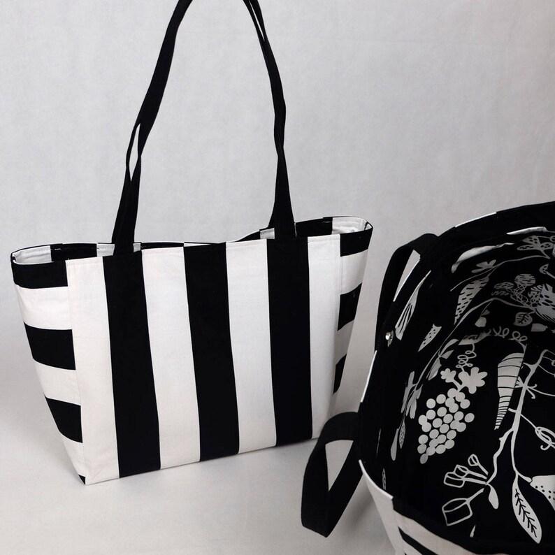 Tote bag Oversize stripes  vegetables tote bag image 0