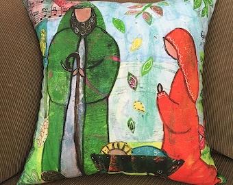 Pillow Cover 17x17 Nativity Scene-Elizabeth Claire