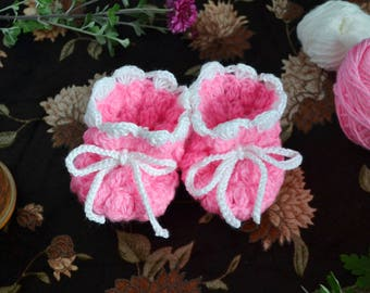 Baby Booties - Pink