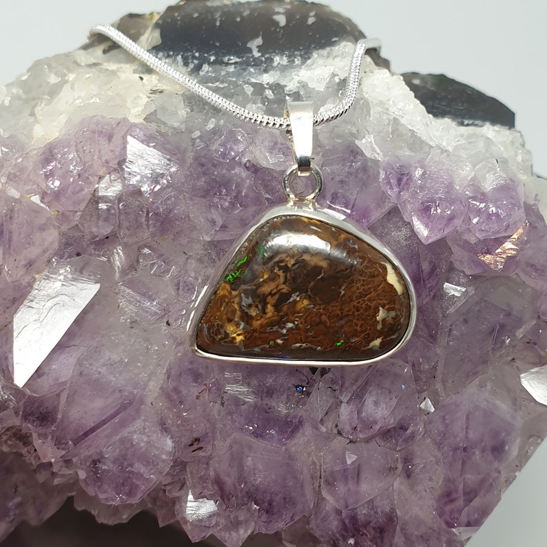 Australian Boulder Opal Pendant 008U1