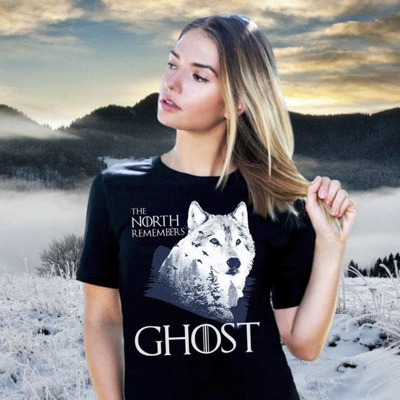North Remembers Wolf Silhouette Game of Thrones Womens Sweatshirt