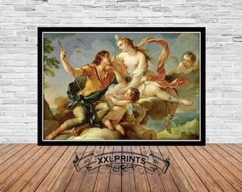 "1957 Vintage Full Color Art Plate /""VENUS /& ADONIS/""  by RUBENS Lithograph"