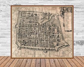 Antique brescia map Etsy
