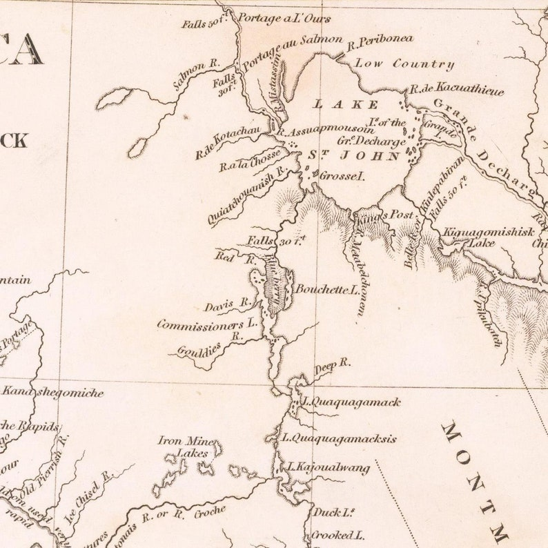 Old map of Lower Canada and New Brunswick large map fine art print antique map oversize map print 1832 fine reproduction