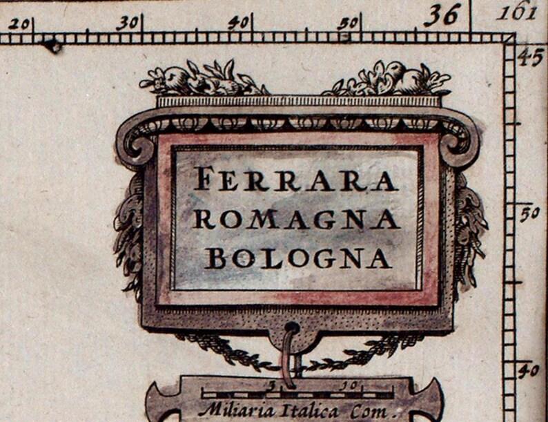 Antique map of Bologna fine art print 1626 old italian map fine reproduction vintage decor