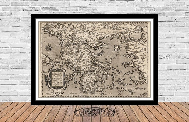 1581 very rare map fine reproduction antique decor fine art print large map Ancient map of the World oversize map print very old map