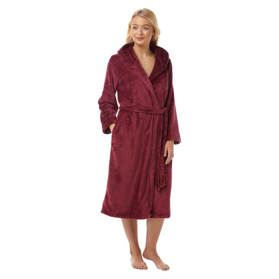 742846ed9d Ladies Suzy and Me Supersoft Fleece Hooded Dressing Gowns.