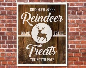 Magnolia Farms Christmas Vector, Reindeer SVG, Vintage Christmas SVG, Print, Vector, DXF, Fixer Upper, Rustic, Joanna Gaines, Wall Art