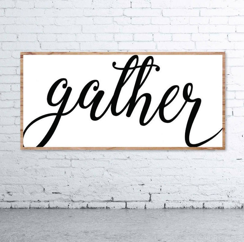photograph about Gather Printable titled Assemble Indicator, Obtain Printable, Impressive Farmhouse, Fixer Higher, Cuttable, SVG, Electronic Document, DXF, Scalable, Print, Slash History, Silhouette Cameo