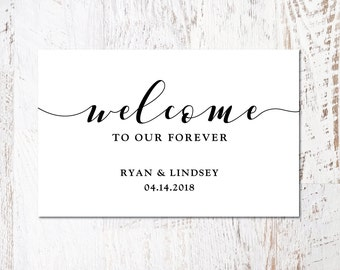 Customizable Wedding SVG, Welcome Wedding SVG, DIY Wedding svg, Welcome To Our Forever, Welcome Wedding, Sign, Cut File, Print, Stencil