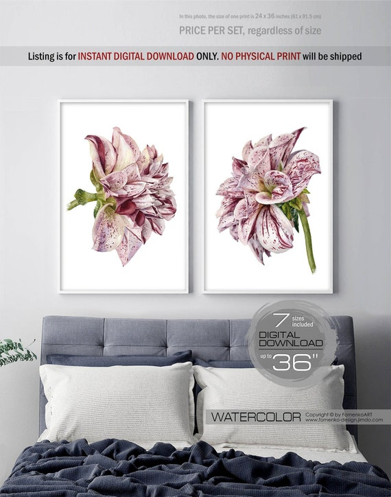 Large Wall Art Valentines Day Decor Downloadable Prints Boho Etsy