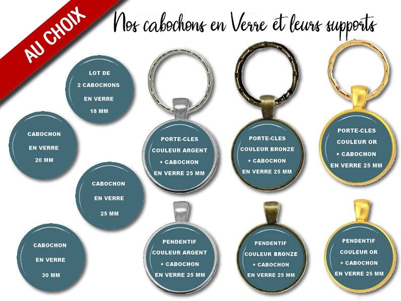 resin or glass christmas gift party birthday school A CHOICE silver gold or bronze cabochon with or without support
