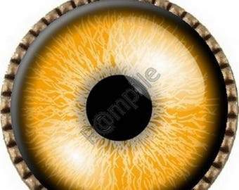 Bronze pendant Cabochon - orange eye (909)