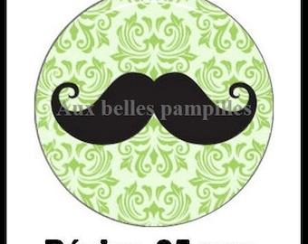 Cabochon resin 25 mm (66) - mustache - stick