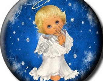 Cabochon resin 25 mm - Messenger of Christmas craft (656)