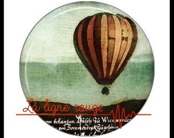 Hot air balloon (3394) - airship, balloon, Vintage - Cabochon with or without stand depending on your choice