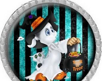 Pendant Cabochon - Ghost Halloween (637)