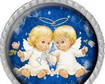 Pendant Cabochon - Christmas angels (650)