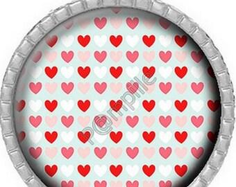 Cabochon pendant - Hearts online (617)