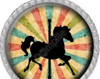Cabochon pendant - Circus horse - (678)