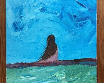 Original painting of girl
