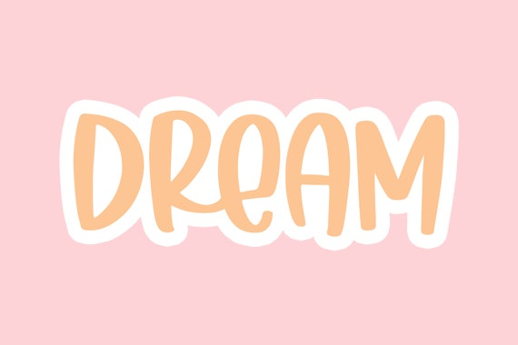 children books Cute Hand written font Sugar Dream OTF,TTF format for Christmas card decorations or party product logo. pets content