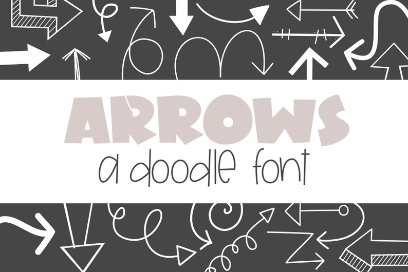 Arrows Font - Doodles - Dingbat Font - TTF