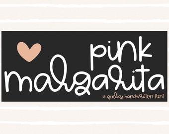 Pink Margarita - Handwritten Font, Script Font, Cricut Fonts, Quirky Font, Fonts for Cricut, Cursive Font, Modern Fonts