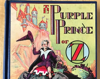 1932 The Purple Price of Oz book by Ruth Plumly Thompson dust jacket Wizard of Oz series illustrated