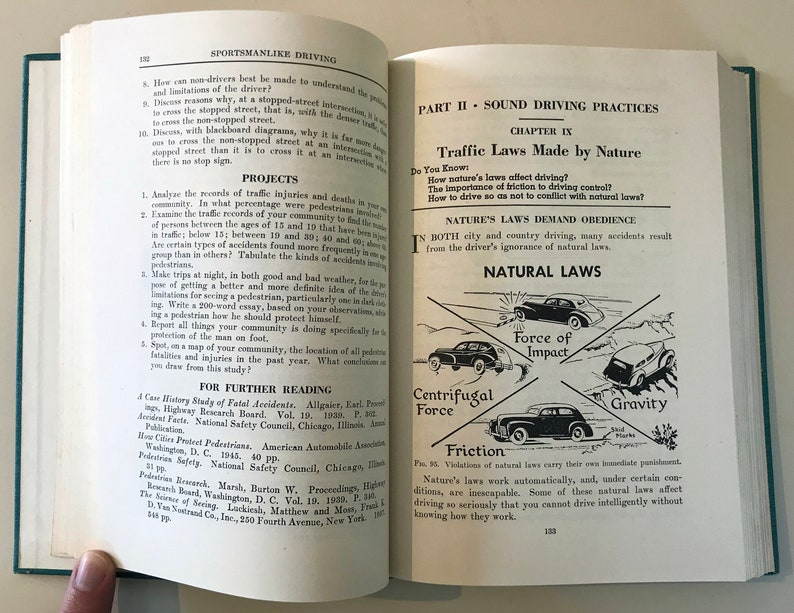 433d19b11b3 1948 Sportsmanlike Driving book by AAA great condition | Etsy