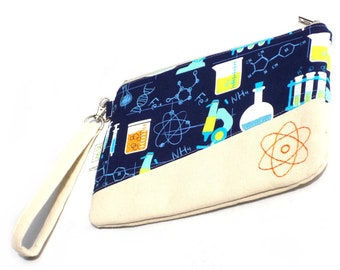 Hand Embroidered Clutch Purse - Atomic