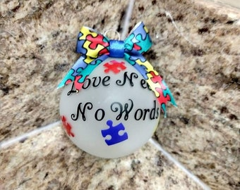 autism awareness ornaments