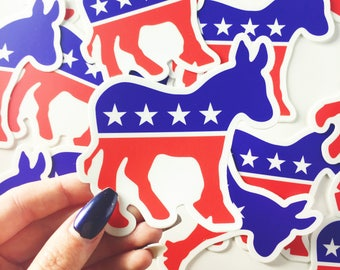 Democrat Donkey Vinyl Sticker