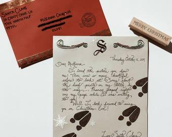 Handwritten letter from santa etsy santa writes back response letter from santa spiritdancerdesigns Gallery