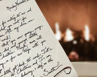 Handwritten letter from santa etsy santa writes back 4 response letters from santa spiritdancerdesigns Gallery