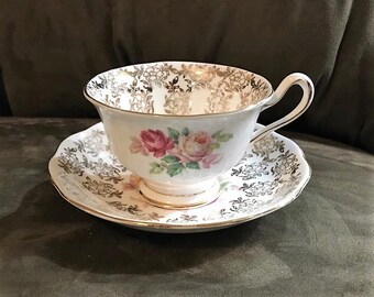 Royal Albert Bone China Tea Cup and Saucer England Pattern 2791