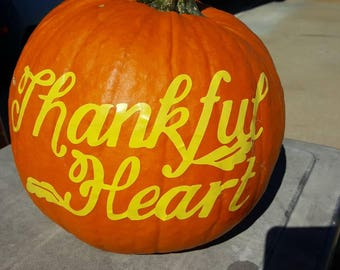 Thankful Heart Decal