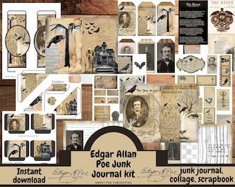 Junk Journal kit, Collage paper, Junk Journal, Mixed Media, Ephemera, Digital kit, Printable, Journals, Vintage Paper, Scrapbook, bujo, art