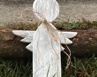Wooden pallet chalk paint angel ornament