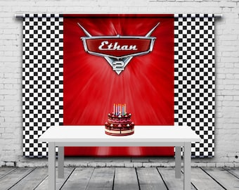 Disney Cars 2 Birthday Backdrop Race Party Custom Theme Photo Background Booth Any Size Banner