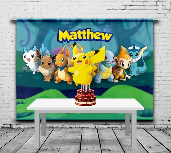 Pokemon Birthday Backdrop Party Personalized