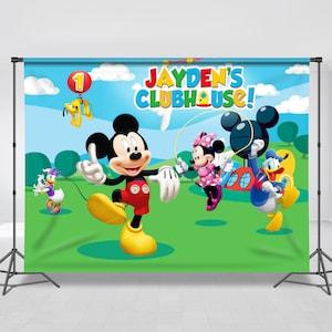 Minnie Onederland Minnie Mouse Winter Wonderland Birthday Backdrop Disney Theme Personalized Any Size Banner Birthday Banner Snowflake