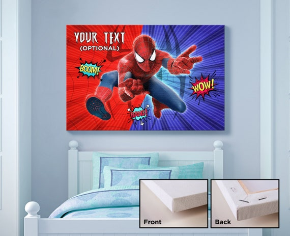 Merveilleux Spider Man Canvas Print, Kids Bedroom Wall Art, Kids Gift Idea, Wall  Hanging Canvas, Superhero Theme, Childrens Art Poster, Kids Room Decor