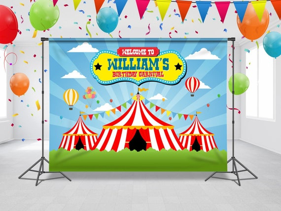 Carnival Theme Birthday Backdrop Circus Carnival Party Circus Party Banner Carnivals Background Custom Photo Props Any Size Banner